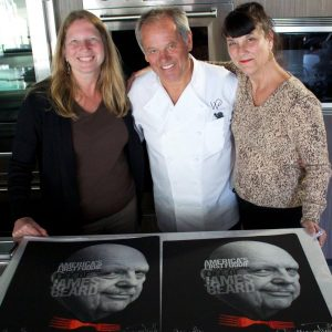Beth & Kathleen with Wolfgang Puck